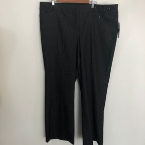 Dalia Collection Career Pants Size 20W Light Black